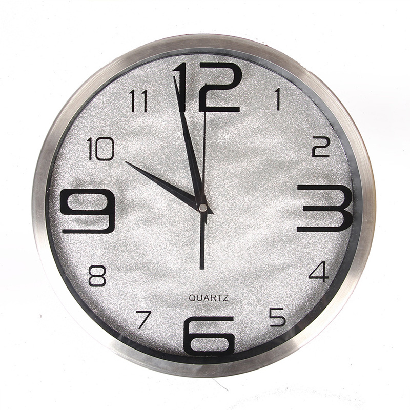 12 14 Inch Fashion Large Wall Clock Candy Color Stainless Steel Living Room Modern Brief Mute Quartz In Clocks From Home Garden On