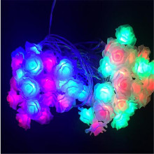 10M 50LED lamps Rose Flower Christmas lights for outdoor /garden wedding paty patio string light garland decoration led lamp