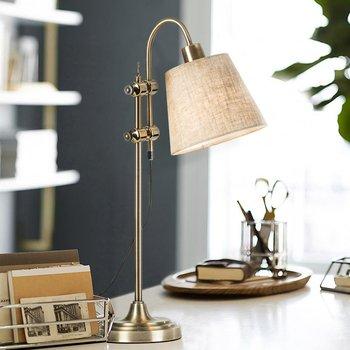 Hiện đại lron hướng điều chỉnh đèn bàn đèn sáng tạo Mỹ cổ điển đèn bàn đèn cho phòng ngủ nghiên cứu đèn đọc sách cạnh giường đèn