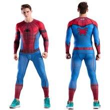 MMA chemise de Compression pour hommes, pantalon Rashguard Captain America The Flash Panther noir, soldat dhiver, CODYLUNDIN