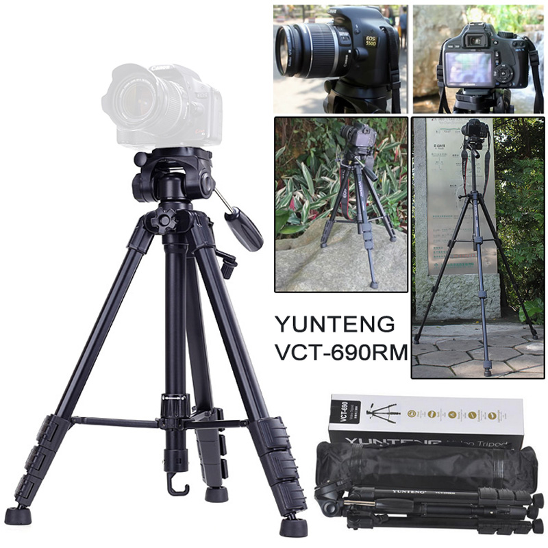 Yunteng VCT-690 New Photographic Equipment Aluminium Flexible tripod for for Nikon Canon SLR Digital Camera Support with Bag профессиональная цифровая slr камера nikon d3200 18 55mmvr