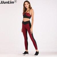 Women Yoga set Sport Suit Sport Leggings Yoga Bra 2PCS Fitness Suit for Women Sportswear Elastic Running Yoga Suits Gym Workout
