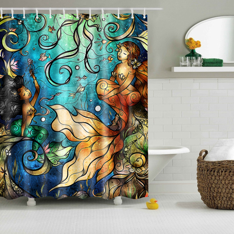 Online Get Cheap Mermaid Shower Curtain Alibaba Group