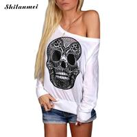 New 2016 Vogue Harajuku 3d Tshirt Weird Skull Printed Loose T Shirt Womens Tshirts Casual Off