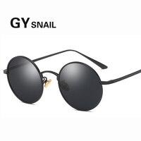 2daa082fe GY Snail Round Polarized UV400 Sunglasses For Men Women Vintage Brand Metal  Oval Frame High Quality