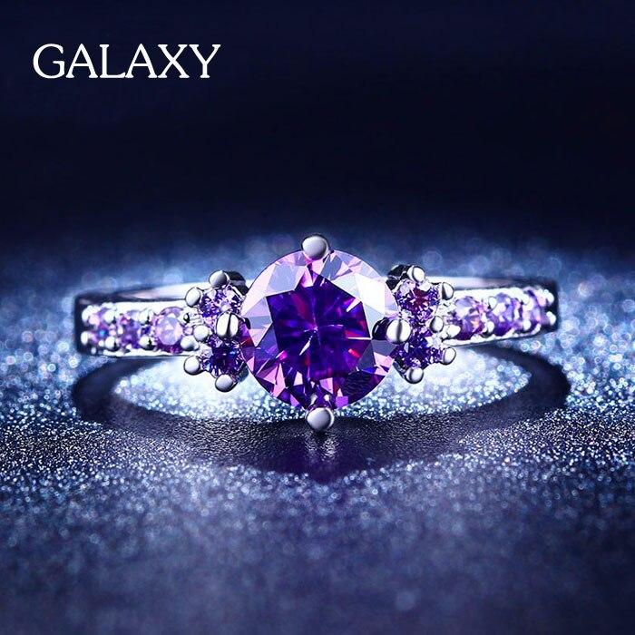 get women big round black stone ring aliexpress - Purple Wedding Rings