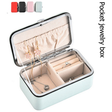 Portable Pocket Small Travel Jewelry Ring Earrings Necklace Storage Carrying Case Bracelet Accessories Holder Organizer Gift Box