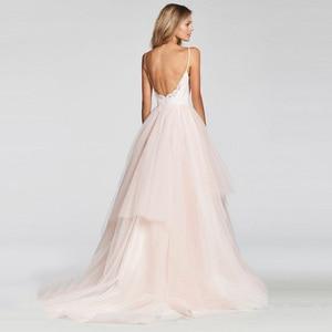 Image 4 - LORIE A Line Wedding Dress 2019 New Arrival Vestido De Noiva Simple Bridal Dress Puffy Tulle Beach Wedding Dresses Lace Top