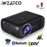 WZATCO CTL80 Android 6 Wifi inteligente portátil Mini LED 3D TV proyector soporte Full HD 1080 p 4 K Video proyector de Beamer para cine en casa