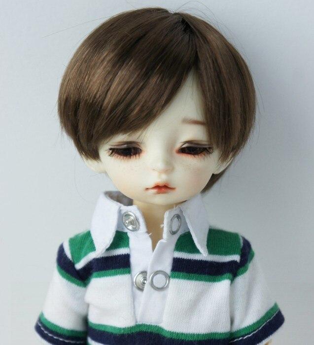 6-7inch 16-18CM Synthetic Mohair Short Boyish Doll Wigs YOSD 1//6 BJD Hair Blond