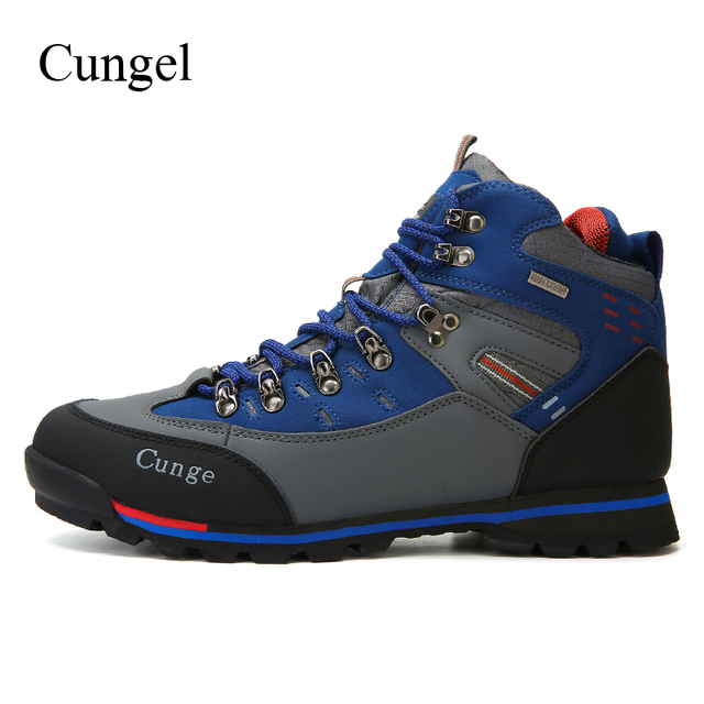 Cungel Trekking boots Sneakers men Autumn/Winter Outdoor Hiking shoes Breathable Waterproof Anti-skid Mountain Climbing shoes