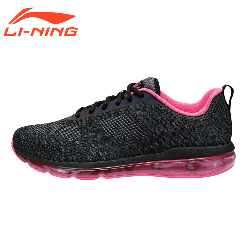 Li-Ning Women Walking Shoes MONO YARN Sneakers Breathable Cushion Heritage LiNing  AIR WALKER Series Sports Shoes AGCM114 li ning brand men basketball shoes sonicv series professional camouflage sneakers support lining breathable sports shoes abam019