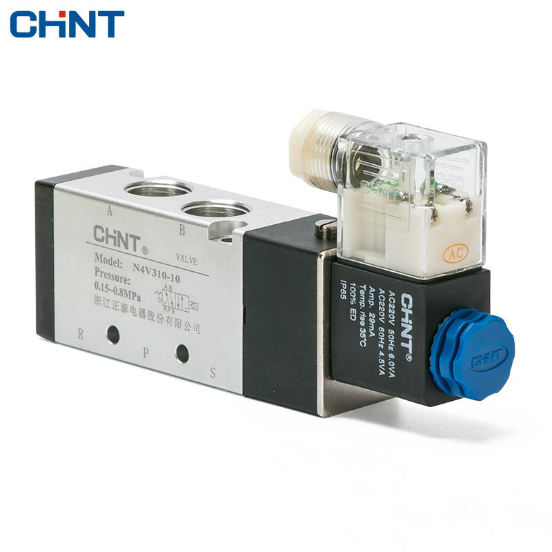 CHINT Electromagnetism Valve 220v Two Position Five-way 24v 12v Electromagnetic Valve 4v310-10 Solenoid Valve 4v210 08 pneumatic solenoid valve ac220v pt1 4 two position five way control