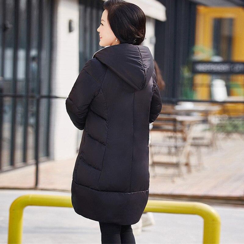 Hiver Automne Lâche Chaud 5xl Femme À Coton D'hiver Parka Xl rouge Capuche Pardessus Noir Grande Rembourré Veste Manteau Taille Femmes D'âge Moyen 7nHqxOwFZY