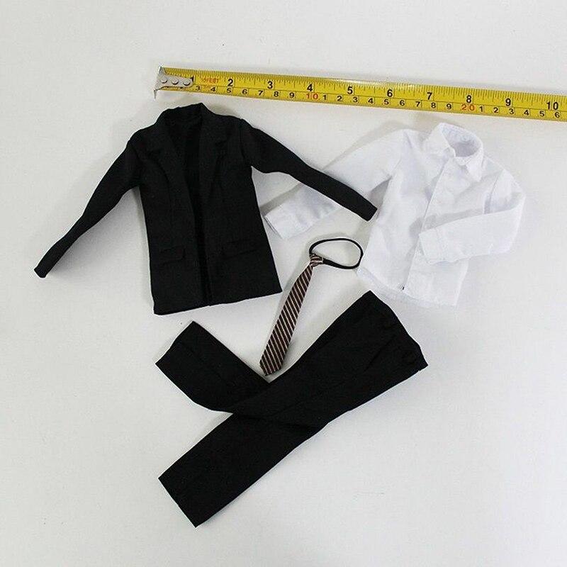 1/6 Scale Male Clothes Suit Models Coat Pants Tie Shirt for 12''Bodies anime sakura akizuli nakuru cosplay costume blue suit shirt coat skirt tie d