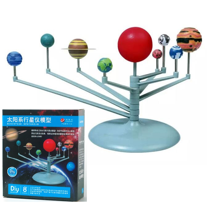 candice guo plastic toy building block assemble model game cartoon solar system learning baby DIY hand work birthday gift set