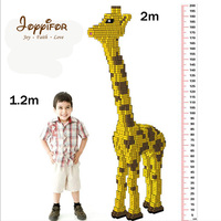 Joyyifor 1.2m/2m Cute Large Giraffe Animals Model Building Blocks Bricks Home Store Decoration Toys Compatible LegoINGlys Gifts