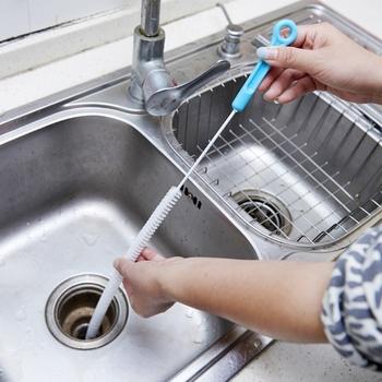 Narzędzia czyszczące zginana kanalizacja pogłębiarka do rur włosów z umywalki akcesoria kuchenne tanie i dobre opinie OOTDTY Bez kran Other Hair Sewer