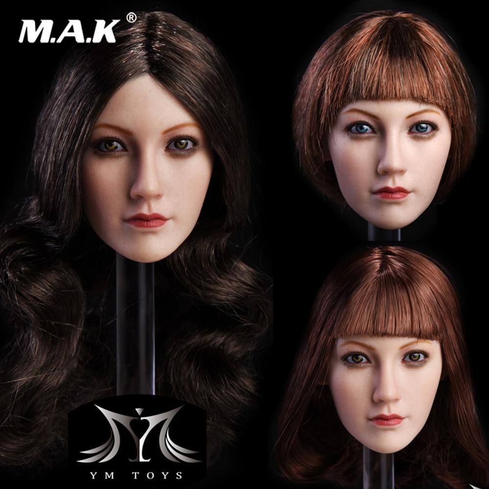 "KUMIK 1//6 Female Head CG CY Girl Carving KM005 for 12/"" Action Figures Model Toys"