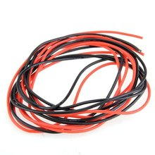 High Quality 2x 3M 14 Gauge AWG Silicone Rubber Wire Cable Red Black Flexible