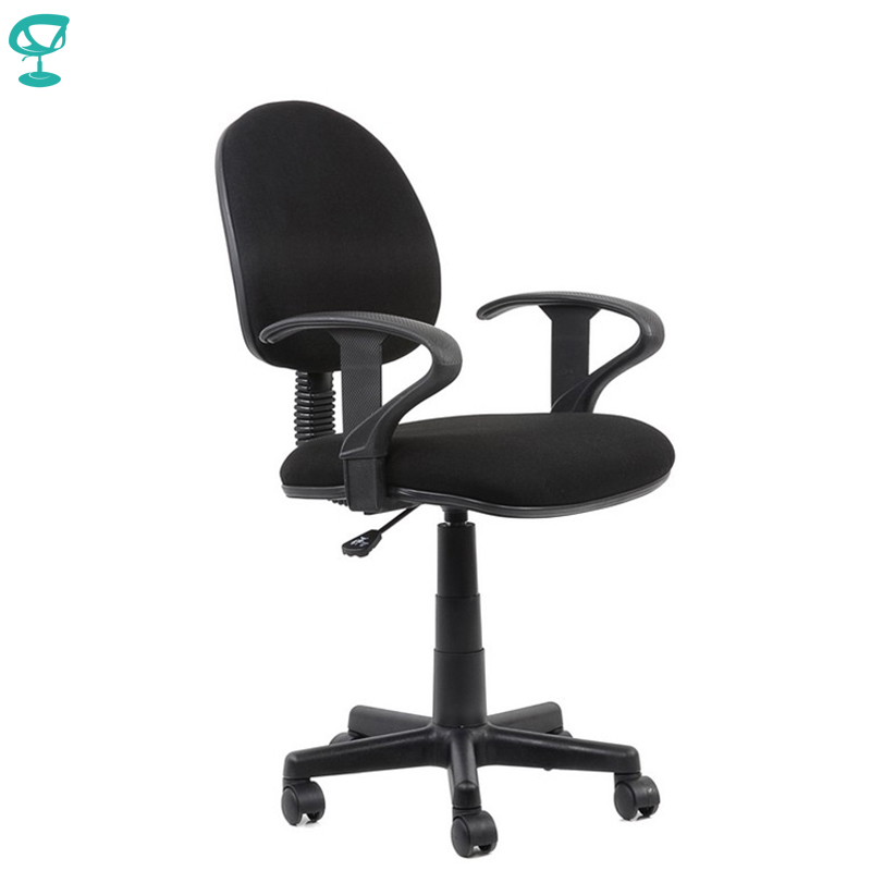 95153 Black Office Chair For Employees Barneo K-102 Chair Fabric Gas Lift Plastic Armrests Roller Free Shipping In Russia