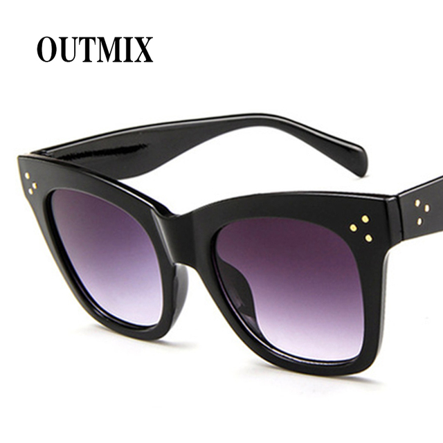 da1c3161fc9 2018 Fashion Oversized Square Sunglasses Women Retro Designer Sun Glasses  Female New Big Frame Shades 8styles Black Gray Blue