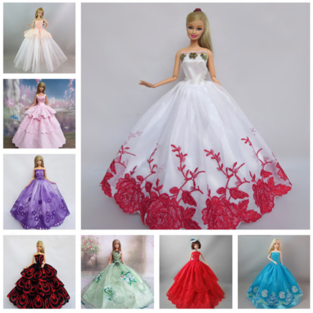 One Piece Fashion Handmade Clothes Dresses Grows Outfit for Barbie Doll Dress for Girls Many Colors High Quality
