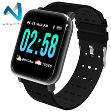 Wearpai A6 Спорт smart watch для мужчин измерять кровяное давление физической активности сердечный ритм трекер для IOS Android смотреть водонепроницаемый ip67
