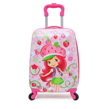 New 2019 Cartoon Children Travel Trolley Case Child Luggage Children Double Side Pattern Luggage Box Scroll Box Travel Bag Wheel
