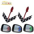 LVTUOSI 2 piezas flecha Panel 14 SMD LED coche espejo lateral indicador Auto de la luz de señal de vuelta de luz estilo de coche LED espejo retrovisor AE