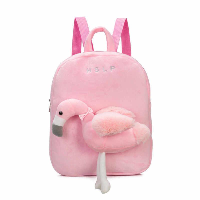 6f6c25760 2019 3D de dibujos animados de peluche de los niños mochilas kindergarten mochila  Animal mochila de