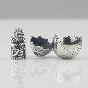 Image 4 - דבקון 925 סטרלינג כסף הדרקון ביצת קסם חרוז Fit אירופאי צמיד תכשיטים