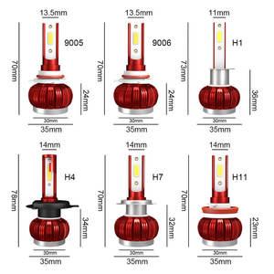 Image 5 - 2 шт. Автомобильные фары H7 H11 LED H4 H1 H8 HB2 9005 H10 HB3 9006 светодиодные противотуманные фары лампы авто фары COB Чип 36 Вт 6000 К 12 В