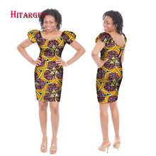 2018 African Dresses for Women Fashion Design Dashiki Women Bazin Riche  O-neck Middle Dress Dashiki Plus Size Regular 6xl WY171 05e3e415898d