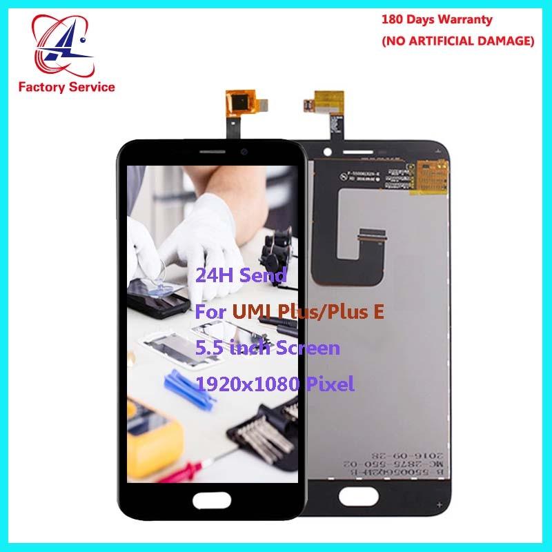 Para UMI Originais Plus/Plus E LCD Screen Display + Touch Screen Digitador Assembléia Sensor Substituição 5.5