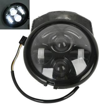 """Black/Chrome 5-3/4"""" 5.75"""" Headlight & Visor Bracket For Harley Sportster XL 883 XL 1200 NEW Motorcycle"""
