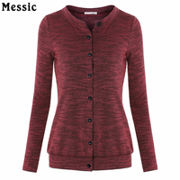 Women S Casual Slim Fit Button Down Classic Knit Cardigan Soft Long Sleeve Knit Sweatshirt With