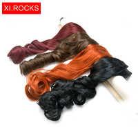 Wjj12070 1 sztuka Xi skały peruki syntetyczne przedłużanie włosów włosy doczepiane clip in dla czarnych kobiet faliste długie przedłużanie włosów