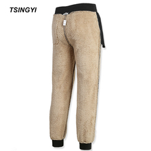 Tsingyi Winter Thicken Berber Fleece Plus Size 6XL 7XL 8XL Mens Sweatpants Casual Faux Fur Warming Military Hombre Mens Trousers цена 2017