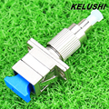 KELUSHI FC to SC Male Fiber Optic Adaptor FC/SC Hybrid Optical Adaptor for Visual Fault Locator and Fiber Optic Cable