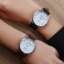 Luobos Hot Sale Leather Men Watch Fashion Casual Quartz Women Wrist Watch Arabic Numbers Style Analog Watches Clock Relojes 2017