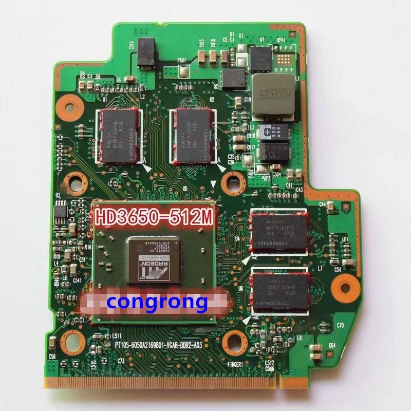 Видеокарта HD3470 HD3650 V000100500 V000101610 V000121530 V000121540 VGA для TOSHIBA SATELLITE A205 A305 A315 A300, 512 Мб