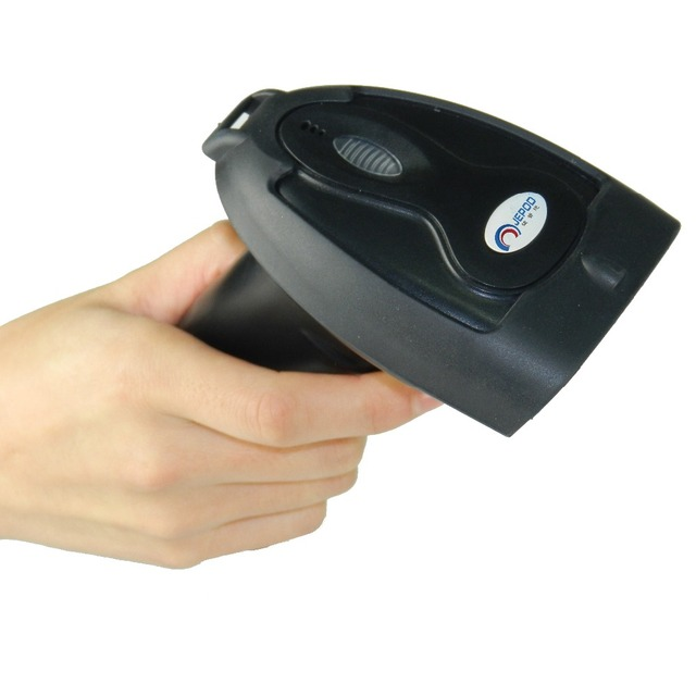 JP-100 Low Price OEM Laser Barcode Scanner Cheap Portable USB Wired 1D Cable Reader Bar Code POS System Supermarket