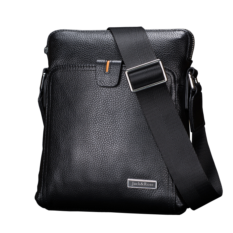 Casual genuine leather men bagss