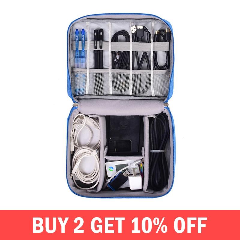 e6da2c573b909 كابل رقمي حقيبة الرجال المحمولة السفر الادوات الحقيبة الطاقة الحبل شاحن  سماعة المنظم محرك الإلكترونية حقيبة