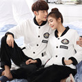 onesie winter warm pajamas couple coral fleece flannel suit men and women can wear thick long sleeved clothing Home Furnishing