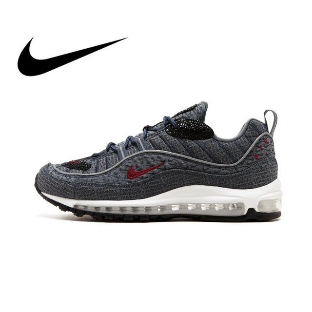 cd722519ef4f Original Authentic Nike Air Max 98 QS CONE Men s Comfortable Running Shoes  Sport Outdoor Sneakers Athletic Designer 924462-400