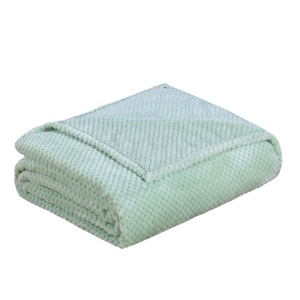 Image 5 - Japan Style Flannel Blanket Solid Plain Coral Fleece Mink Throw Thick Breathable Soft Warm Plaid Spring Summer Quilt Blankets