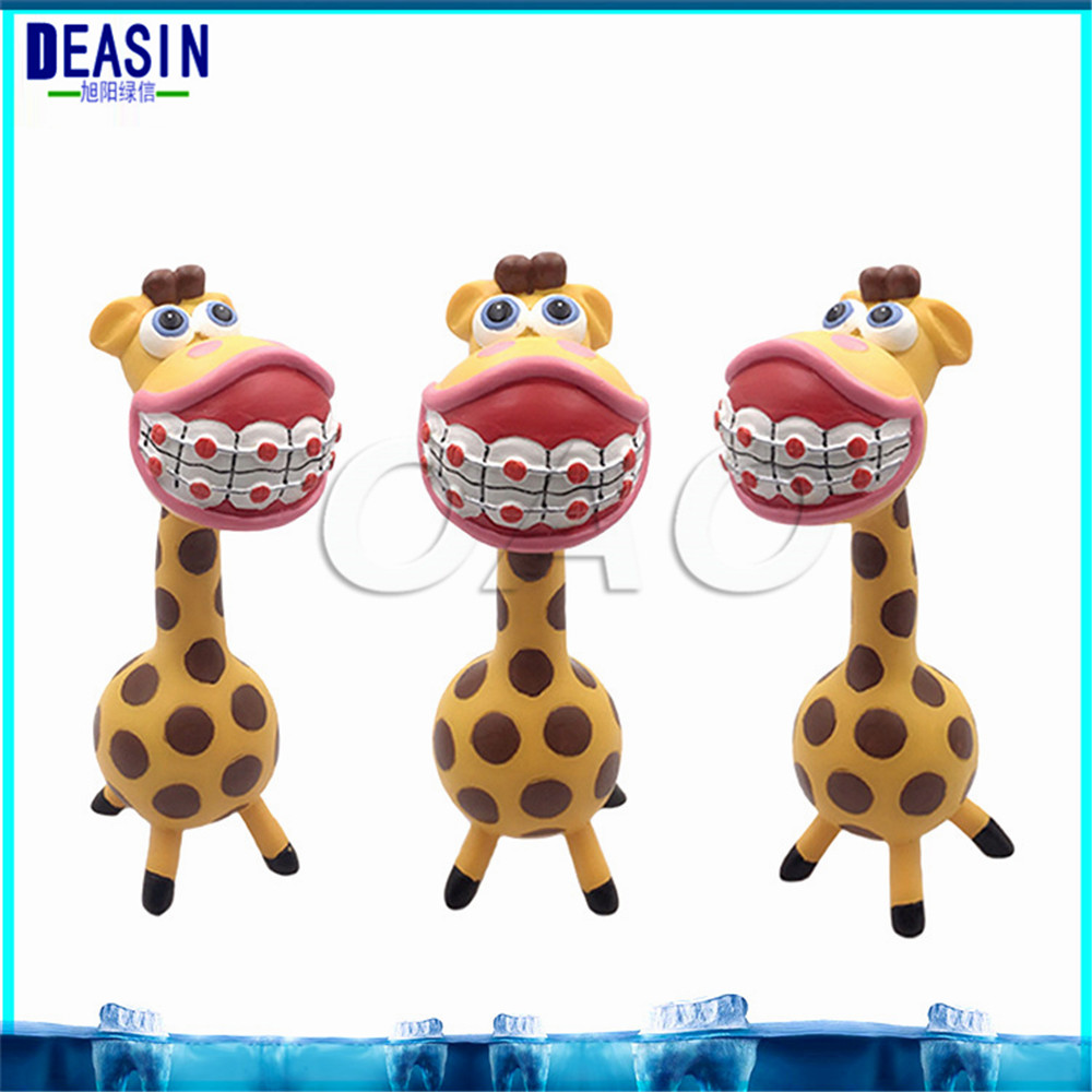 купить Dental Artware Teeth Handicraft Dental Clinic Decoration Furnishing Articles Creative Sculpture Giraffe Gift Resin Crafts Toys недорого