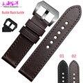 Assista acessórios genuínos de couro pulseira de relógio com preto 22 | 24 mm para o sexo masculino